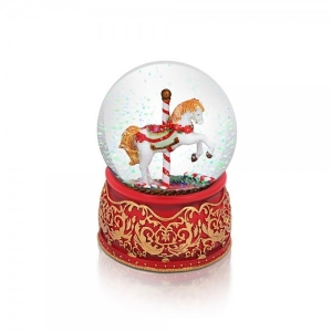 Tipperary Crystal Carousel Snow Globe