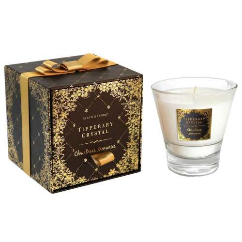 Tipperary Crystal Christmas Memories Candle