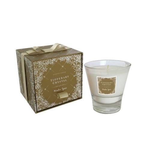 Tipperary Crystal Christmas Winter Spice Scented Jar Candle