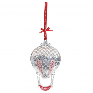 Tipperary Crystal Pearl Hot Air Balloon Christmas Decoration