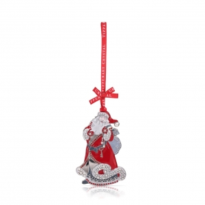 Tipperary Crystal Pearl Santa Christmas Decoration New 2020