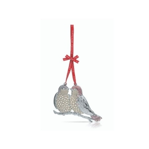 Tipperary Crystal Pearl Turtle Doves Christmas Decoration