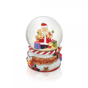 Tipperary Crystal Santa Plane Snow Globe