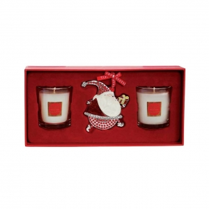 Tipperary Crystal Set Of Christmas Candles & Decoration