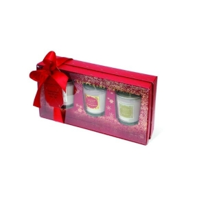 Tipperary Crystal Set Of Three Assorted Christmas Candles