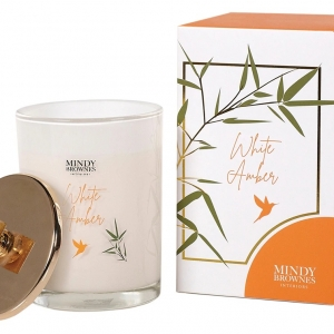 Mindy Brownes White Amber Scented Candle