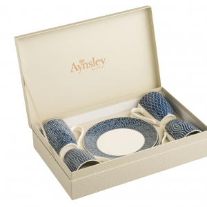 Aynsley Adadgio 8 Piece Mug & Plate Set