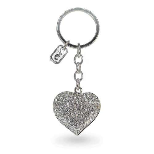 Heart Sparkle Keyring From Tipperary Crystal