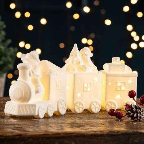 Belleek Living Santa's Train LED