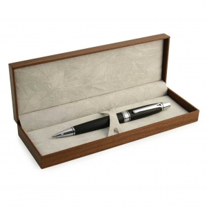 Tipperary Crystal Black Textured Boxed Pen