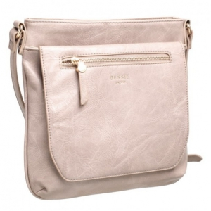 Bessie Front Flap Across Body Bag Grey