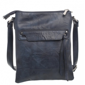 Bessie Navy Crossbody Bag With Front Zipper