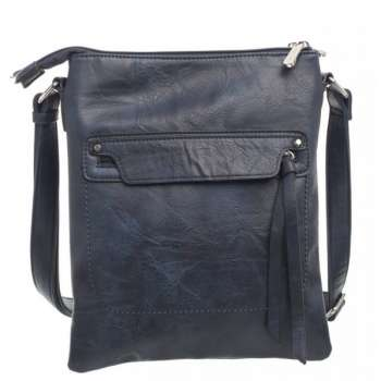 Bessie Navy Crossbody Bag With Front Zipper