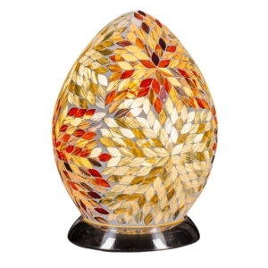 Amber Mosaic Egg Lamp From The Grange Collection