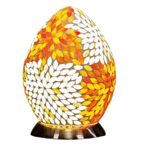 Burnt Orange Mosaic Egg Lamp From The Grange Collection