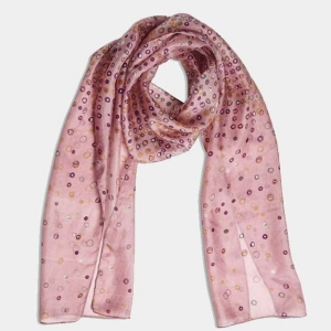 Printed Silk Scarf Sanctum Blush From Quintessential