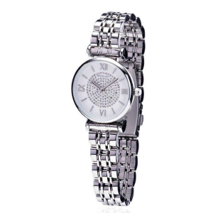 Silver Diamond Face Ladies Watch