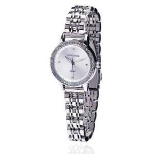 Silver Diamond Bezel Ladies Watch