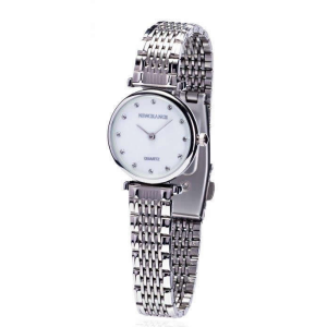 Silver Dotted Face Ladies Watch