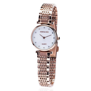 Rose Gold Diamond Dotted Ladies Watch