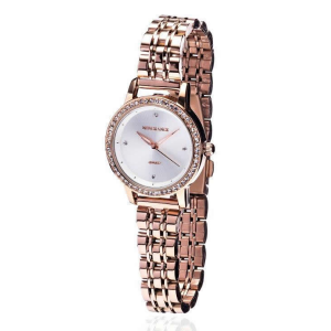 Rose Gold Diamond Bezel Ladies Watch