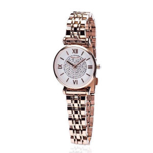 Rose Gold Diamond Face Watch