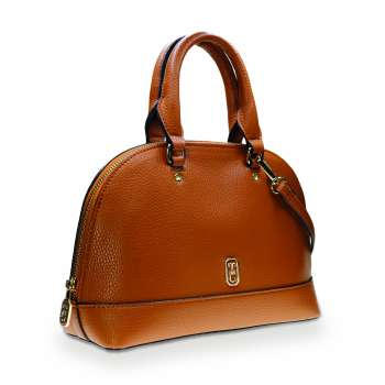 Tipperary Crystal Mayfair Brown Bowling Bag