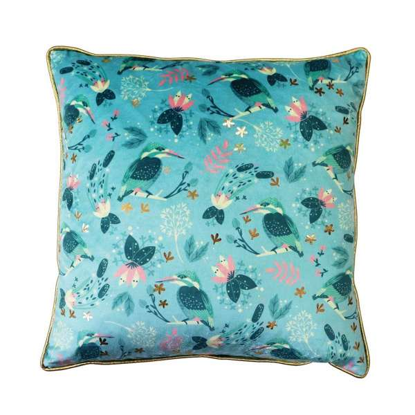 Tipperary Crystal Kingfisher Tipperary Birdy Cushion