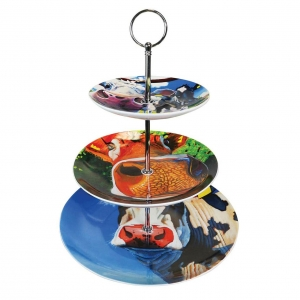 Tipperary Crystal Eoin O Connor Cows Cake Stand