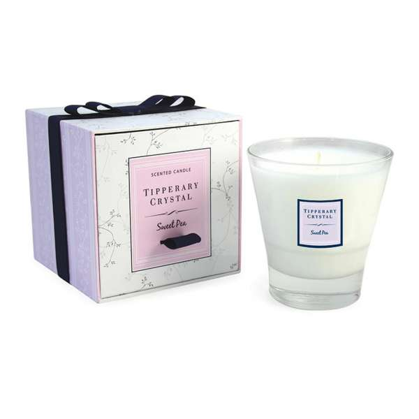 Tipperary Crystal Tumbler Candle Sweet Pea