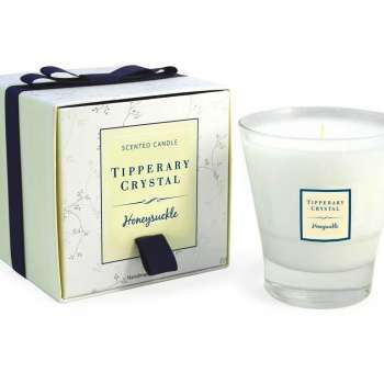 Tipperary Crystal Tumbler Candle Honeysuckle
