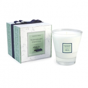 Tipperary Crystal Tumbler Candle White Tea