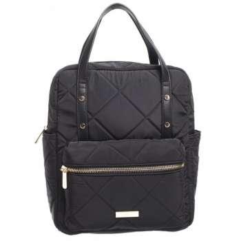Bessie London Padded Backpack Black