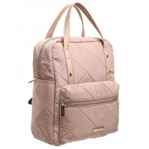 Bessie London Padded Backpack Nude