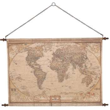Mindy Brownes Vintage World Map
