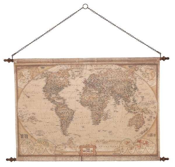 Mindy Brownes Vintage World Map