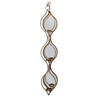 Mindy Brownes Ellie Mirrored Triple Candle Holder
