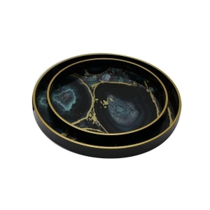 Mindy Brownes Midnight Glory Set/2 Serving Tray