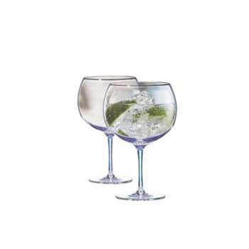 Newgrange Living Unicorn Lustre Gin Glasses Pair