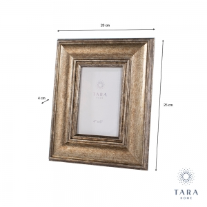 "Tara Home Leo Photo Frame Gold 4""x 6"""