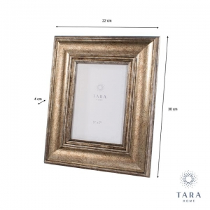 "Tara Home Leo Photo Frame Gold 5""x7"""