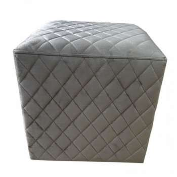 The Grange Cubic Stool With Quilted Velvet (Taupe)