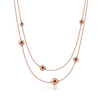 Romi Rose Gold Bead Necklace From Tipperary Crystal
