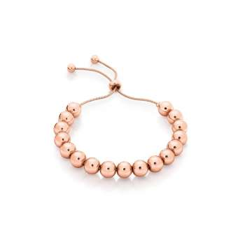 Romi Rose Gold Ball Bolo Bracelet From Tipperary Crystal