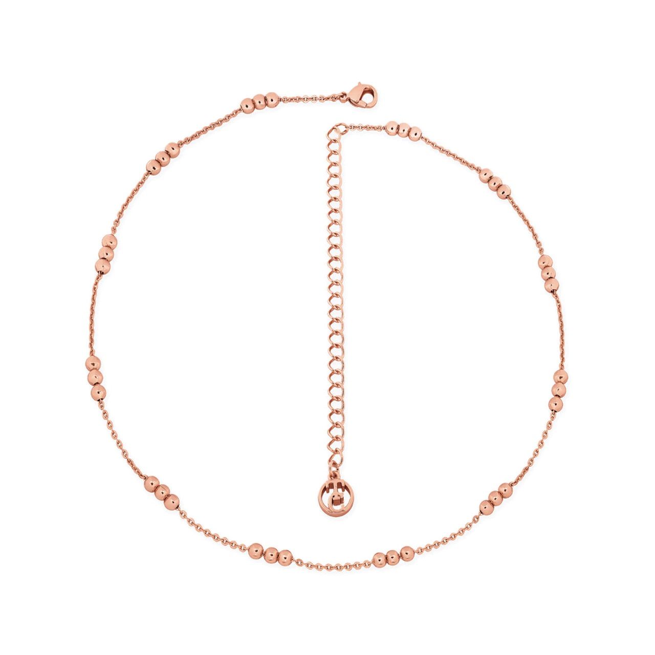 Skandi Triple Bead Rose Gold Choker Necklace From Tipperary Crystal