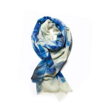 Galway Living Atlantic Blue Merino Scarf