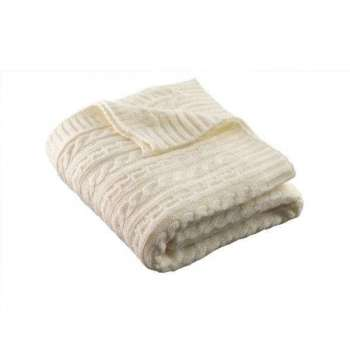 Galway Living Aran Knit Throw Soft White