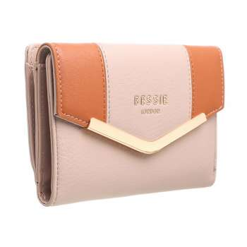 Bessie London Two Tone Purse Pink