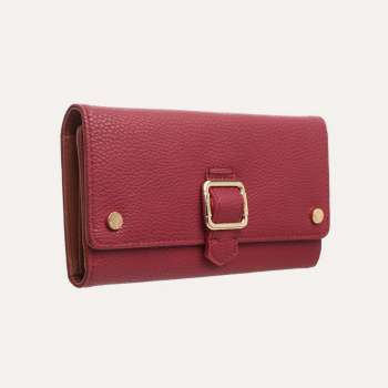 Bessie London Flap Over Buckle Purse Red