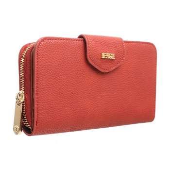 Bessie London Flap Over Wallet Dark Red